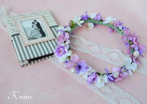 花冠結婚式パールピンクパープル8