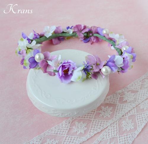 花冠結婚式パールピンクパープル9