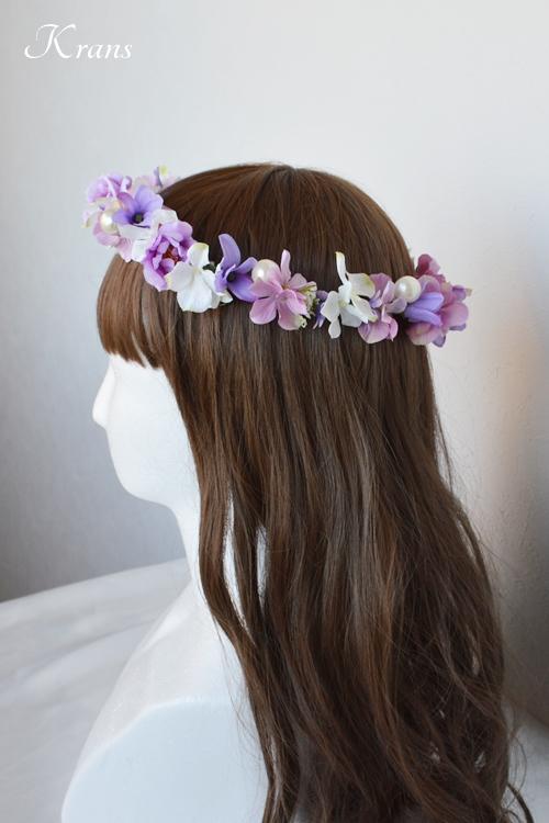 花冠結婚式パールピンクパープル4