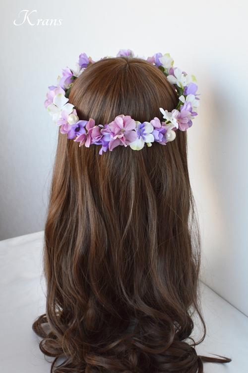 花冠結婚式パールピンクパープル5