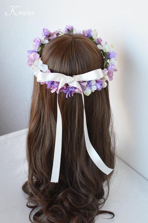 花冠結婚式パールピンクパープル6