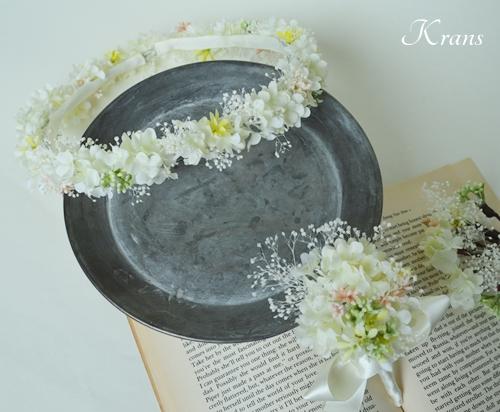 かすみ草の花冠、プリザーブドフラワーカスミソウ3