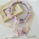ピンクメリンダ花冠結婚式3
