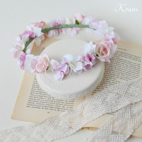 ピンク花冠結婚式3