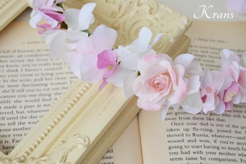 ピンク花冠結婚式2