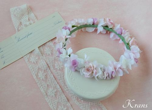 ピンク花冠結婚式8