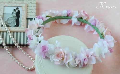 ピンク花冠結婚式9