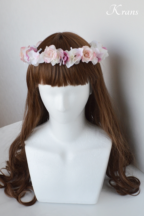 ピンク花冠結婚式4