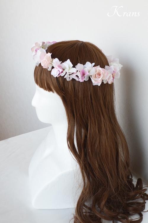 ピンク花冠結婚式5
