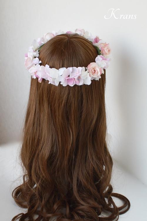 ピンク花冠結婚式6