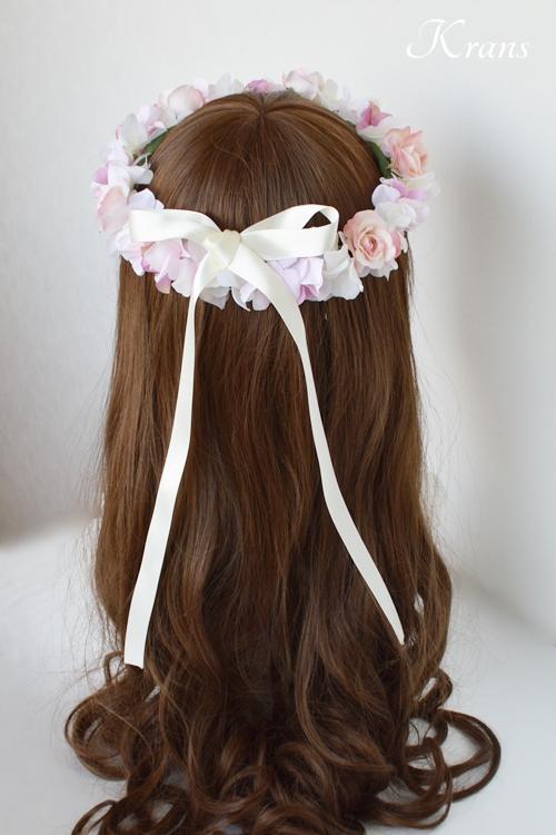 ピンク花冠結婚式7