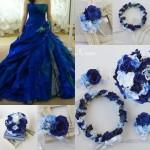花冠hに似合うドレスコーディネートブルー