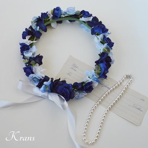 ブルー花冠結婚式