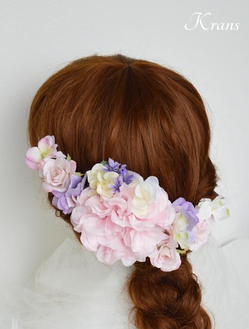 七五三ヘッドドレス髪飾りヘアアレンジ4