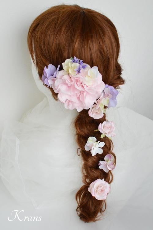 七五三ヘッドドレス髪飾りヘアアレンジ2