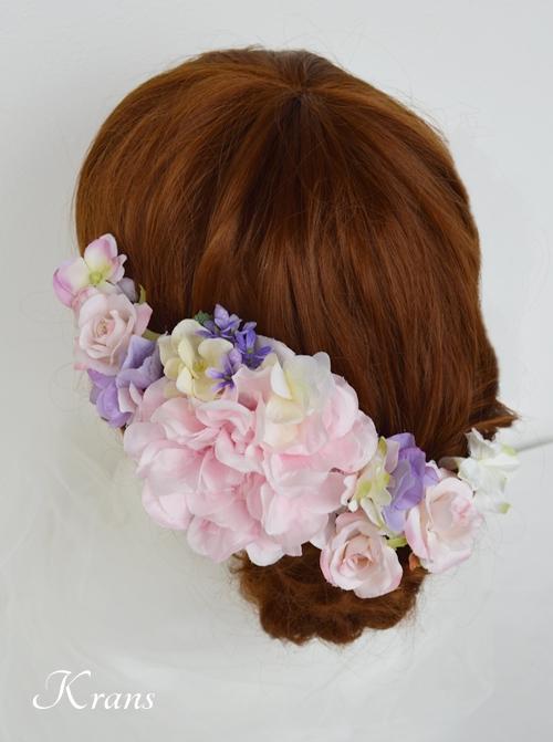 七五三ヘッドドレス髪飾りヘアアレンジ