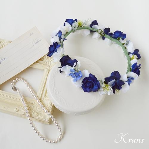 【オーダー】ロイヤルブルーリボンドレス用花冠