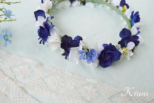ロイヤルブルー花冠結婚式
