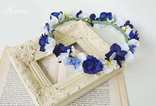 ブルー花かんむり沖縄婚