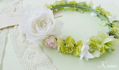 結婚式花冠おしゃれナチュラルグリーン2
