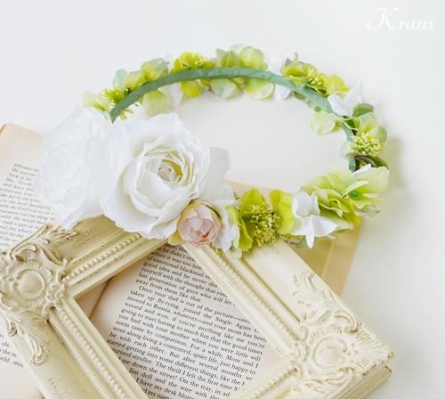 ナチュラルグリーン花冠結婚式