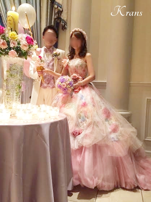 花冠ピンクメリンダ結婚式