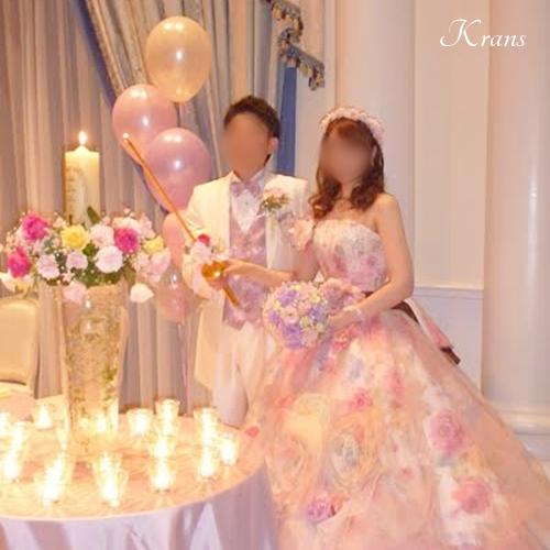 結婚式花冠ピンクメリンダ