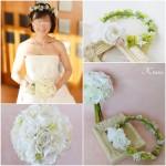 結婚式花冠クラッチブーケ