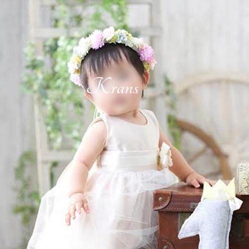 子ども花冠1歳の誕生日ファーストバースデー