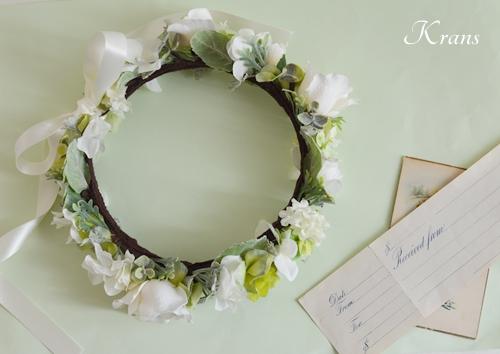 ホワイトローズ花冠結婚式3