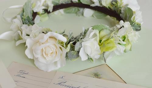 ホワイトローズ花冠結婚式2