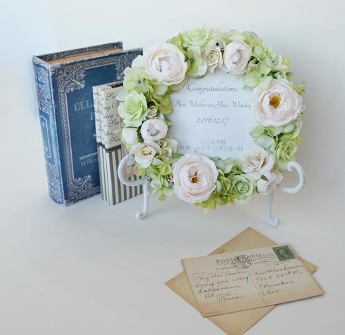 結婚祝いフラワーリース、プレゼント2
