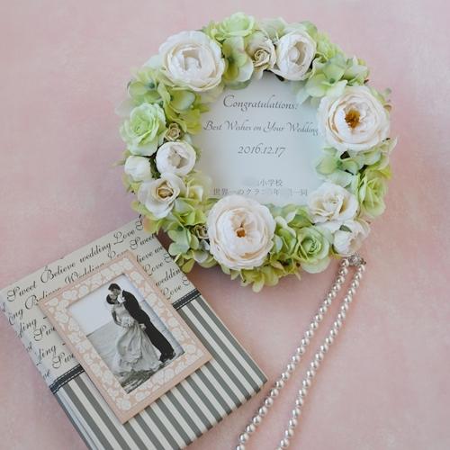 結婚祝いフラワーリース、新築祝いプレゼント