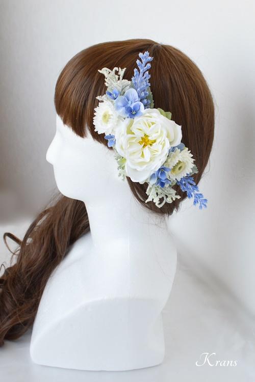 結婚式フラワーボンネラベンダーヘアスタイル