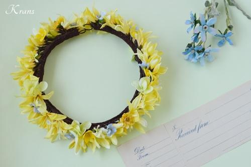 黄色青結婚式花冠