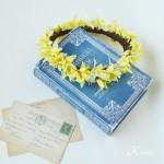 イエローとブルーのプリンセス花冠
