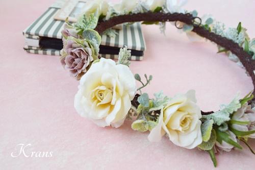 結婚式花冠ナチュラルウェディングクラシックローズ