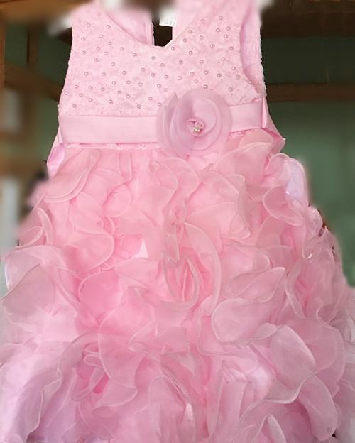 ピンク結婚式用こどもドレス