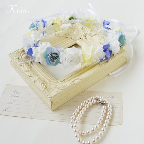 結婚式花冠佐々木希コレクションブルー髪飾り2