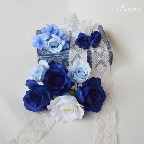 ブルーローズウェディング髪飾りヘッドドレス4