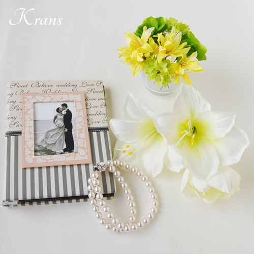 アマリリスヘッドドレス結婚式の髪飾り