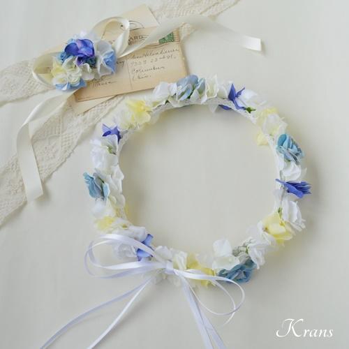 結婚式花冠佐々木希コレクションブルー髪飾り