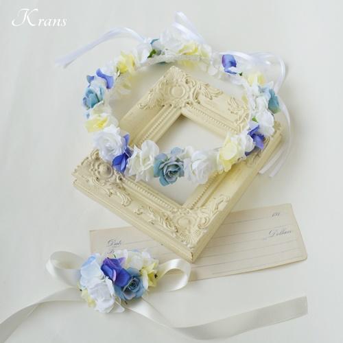 結婚式花冠佐々木希コレクションブルーバラ