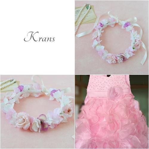 子供用結婚式のピンク花冠