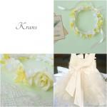 【オーダー】結婚式にご出席のお子様用花冠(イエロー)
