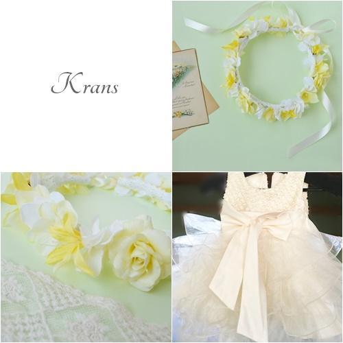結婚式子ども用黄色い花冠