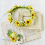 ひまわりの結婚式用花冠