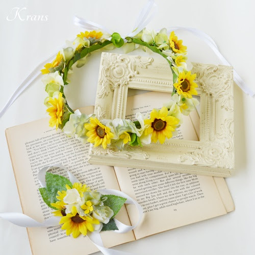 【再販×4】ひまわりのウェディング花冠