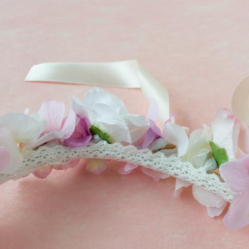 はじめてのお誕生日ピンク花冠