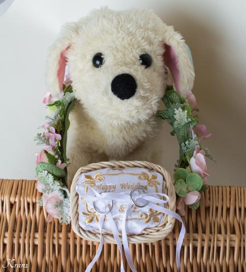 リングドッグ結婚式犬用リングピロー2